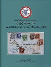 La Grèce les tarifs postaux à l'étranger courrier 1861-1878, cartonnée Auction Catalogue, 2017