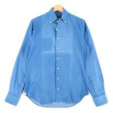 Daniel Cremieux Silver Label Blue Denim Shirt Size S