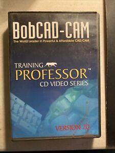 BobCAD-CAM v20 Training Professor dvd Software install discs no key