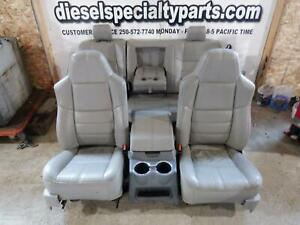 2008 - 2010 FORD F250 F350 LARIAT CREW CAB TAN LEATHER SEATS W/ MIDDLE CONSOLE