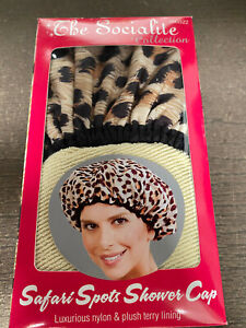 BETTY DAIN THE SOCIALITE COLLECTION Safari Spots Shower Cap - Nylon & Terry