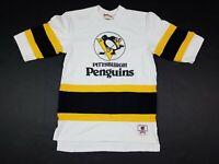 Vtg Pittsburgh Penguins NHL Nutmeg Jersey T-Shirt Adult S USA