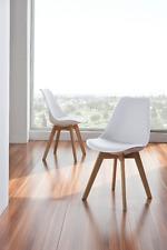 CH-901 Dupen Design Stuhl Set 2 Stühle Esszimmerstuhl Eiche Kunstleder Retro