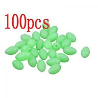 Hot Useful Plastic Glow In The Dark Luminous Beads Oval Shaped Fishing Lures