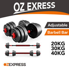 【ON SALE】Adjustable Rubber Dumbbell Set Barbell Home GYM Exercise Fitness