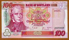 Bank of Scotland, 100 pounds, 1997, P-123b AA-pref., UNC > Commemorative, Rare