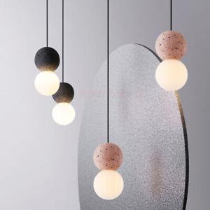 Nordic Terrazzo 1-Light Hanging Light Mini Ball Down Lighting Pendant Lamp