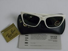 Vintage B&L Ray Ban Cats 3000 Square White G-15 Sunglasses USA