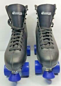 Chicago 8601K Black Leather Rolling Wheeled Lace-Up Roller Skates Men's US 11