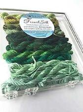 Kreinik Green French Silk Set - 14 2.5m Skeins 100% Silk Floss New