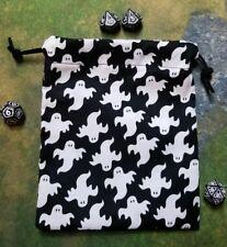 Mini Ghosts dice bag, card bag, makeup bag
