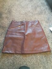 Burgundy Leather Mini Skirt Size 10