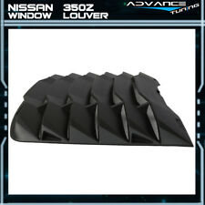 For 03-08 Nissan 350Z IKON Style Matte Black Rear Windshiled Louvers Cover ABS