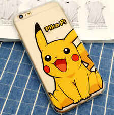 For iPhone 5 5C 5S 5SE Pokemon Go Pokeball Pikacu Anime Cartoon Clear Case Cover