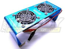 Integy C22400BLUE Team Twin 12VDC Cooling Fan Stand for Chargers & Dischargers