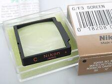 Nikon f3 uno Tell disco tipo C focalizzare la SCREEN C Matt disco boxed for Nikon f3