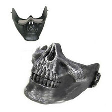 New Skull Skeleton Airsoft Paintball Half Face Protective Mask For Halloween LW
