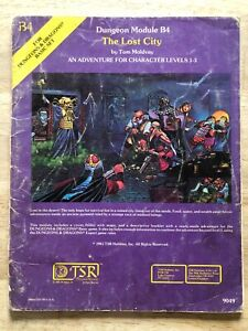 Vintage - Dungeons & Dragons - THE LOST CITY - B4 - First Print - Acceptable