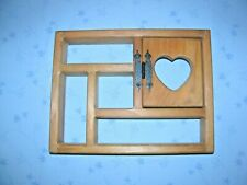 "13"" x 10""  Shelf Display Wood Home Decor Heart Curio Shadow box with door wall"