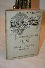 Pugliese Lo Priore FIENI DEI PRATI STABILI ITALIANI Manuali Hoepli 1916 Agraria