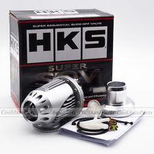 Universal Silver HKS BOV SQV 4 SSQV IV Turbo Blow Off Valve Racing Car & Adapter