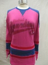 Montreal Canadiens Women L Long Sleeve Jersey Shirt NHL