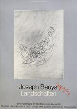 Joseph Beuys: Landschaften. Handsigniertes Plakat 1984