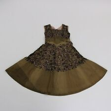 50s Gray Lace Pink Taffeta Dress Plus Size Volup