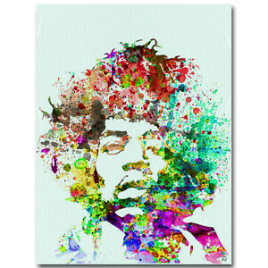 Jimi Hendrix Art Silk Poster Print 14x17 24x30 inch Watercolor Style
