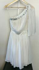 LIPSY Dress Cream Grecian Style Ladies UK Size 8