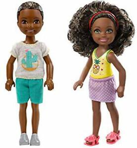 Barbie Club Chelsea Boy and Pineapple Top Dolls African American FXG76 FHK94