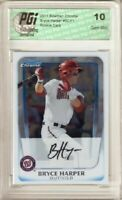 @@ Bryce Harper 2011 Bowman Chrome BCP1 Rookie Card PGI 10