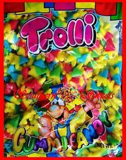 TROLLI CHICKEN FEET 2KG BAG YELLOW GREEN RED BLUE GUMMY LOLLIES