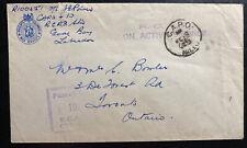 1945 Goose Bay Newfoundland CAPO 10 Censored Cover To Toronto Canada