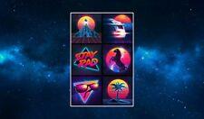 The Neon 80's Fridge Magnet. NEW. Art, Futuristic Excess