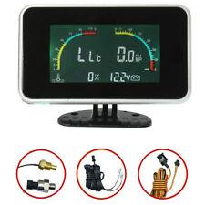 Universal LCD Digital Car Monitor Voltmeter Water Temp Oil Pressure Fuel Level
