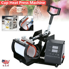 Digital Mug Heat Press Machine Sublimation Ink Transfer Paper Diy Coffee Cup Usa