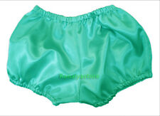 Turquoise Women Satin Pants Pantaloons Sissy Maid Adult Baby Fits With Underwear