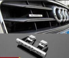 Black Front Quattro Logo Grille Badge Emblem Audi A3 A4 A4 A8 TT Q5 Q7 S6 S8