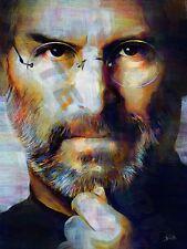 Steve jobs entrepreneur inventeur art imprimé poster peinture à l'huile llff 0192