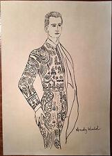 Andy Warhol Original Pen Ink Hand Signed Drawing Matador