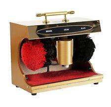GOLD Mini Portable Electric Shoe Polishing Machine Buffer Polisher Gift & Cream
