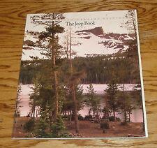 Original 1991 Jeep Full Line Deluxe Sales Brochure 91 Wrangler Cherokee