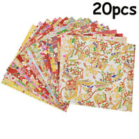 20pcs Japanese Styles Gold Lines Flower Paper Crane Kids Origami Scrapbook DIY
