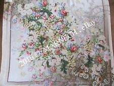 NATURAL SILK Scarf Pavlov Posad Shawl Summer wrap Crepe de shine 10092-2 Vintage
