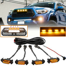 4PCS  LED Amber Grille Lights yellow For Toyota Tacoma TRD PRO 2016-2018 2020 EA