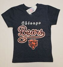 Chicago Bears NFL Team Apparel Youth Girls V-Neck Tee Shirt Large (10/12)