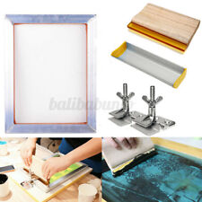 More details for a3 screen printing kit aluminum frame hinge clamp emulsion coater + squeegee