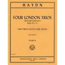 Haydn, Franz Joseph - Four London Trios (Divertimenti), Hob Iv:1-4 - Two Flutes