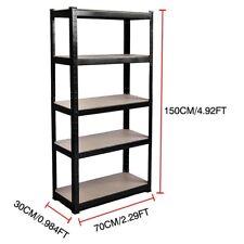 5 Tier Metal Storage Shelving Shelves Racking Unit Tools Garage Garden Shop Shed